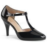 Negro Charol 10 cm DREAM-425 zapatos de salón tallas grandes