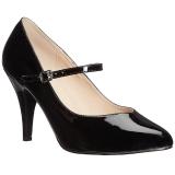 Negro Charol 10 cm DREAM-428 zapatos de salón tallas grandes