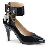 Negro Charol 10 cm DREAM-432 zapatos de salón tallas grandes