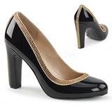Negro Charol 10 cm QUEEN-04 zapatos de salón tallas grandes