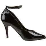 Negro Charol 10 cm VANITY-431 zapatos de salón tacón bajo