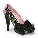 Negro Charol 11,5 cm BETTIE-13 Plataforma Zapato de Salón