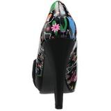 Negro Charol 11,5 cm BETTIE-13 Plataforma Zapatos de Salón