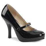 Negro Charol 11,5 cm PINUP-01 zapatos de salón tallas grandes