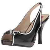 Negro Charol 11,5 cm PINUP-10 sandalias tallas grandes