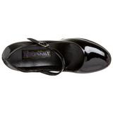 Negro Charol 11 cm MARYJANE-50 Mary Jane Plataforma Zapatos de Salón