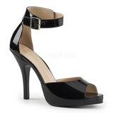 Negro Charol 12,5 cm EVE-02 sandalias tallas grandes