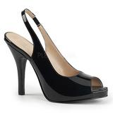 Negro Charol 12,5 cm EVE-04 sandalias tallas grandes