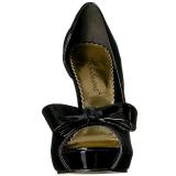 Negro Charol 12 cm LUMINA-32 Zapato Salón de Noche con Tacón