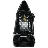 Negro Charol 12 cm PINUP SECRET-15 Mary Jane Plataforma Zapatos de Salón