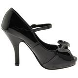 Negro Charol 12 cm retro vintage CUTIEPIE-08 Plataforma Zapatos de Salón