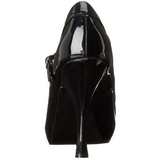 Negro Charol 12 cm rockabilly PRETTY-50 zapatos de salón tacón bajo
