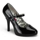 Negro Charol 12 cm rockabilly TEMPT-35 zapatos de salón tacón bajo