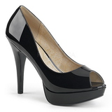 Negro Charol 13,5 cm CHLOE-01 zapatos de salón tallas grandes
