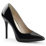 Negro Charol 13 cm AMUSE-20 zapatos tacón de aguja puntiagudos