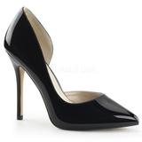 Negro Charol 13 cm AMUSE-22 Zapatos de Salón para Hombres