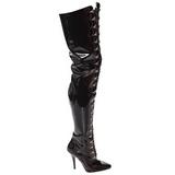 Negro Charol 13 cm SEDUCE-4026 over knee botas altas con tacón