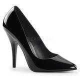 Negro Charol 13 cm SEDUCE-420 Zapato de Salón para Hombres