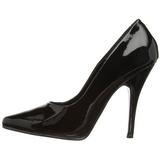 Negro Charol 13 cm SEDUCE-420 zapatos de salón puntiagudos