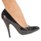 Negro Charol 13 cm SEDUCE-420V zapatos de salón puntiagudos
