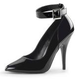 Negro Charol 13 cm SEDUCE-431 Zapato de Stiletto para Hombres