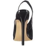 Negro Charol 13 cm SEXY-08 zapatos de salón slingback