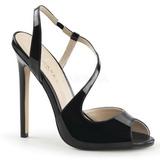 Negro Charol 13 cm SEXY-10 Stiletto Zapatos Tacón de Aguja