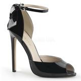 Negro Charol 13 cm SEXY-16 Zapato Salón Clasico para Mujer