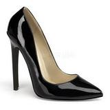 Negro Charol 13 cm SEXY-20 zapatos tacón de aguja puntiagudos