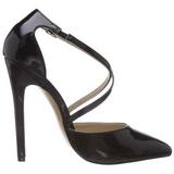 Negro Charol 13 cm SEXY-26 Zapato Salón Clasico para Mujer