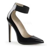 Negro Charol 13 cm SEXY-33 Stiletto Zapatos Tacón de Aguja