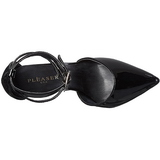 Negro Charol 13 cm SEXY-36 Stiletto Zapatos Tacón de Aguja