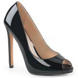 Negro Charol 13 cm SEXY-42 Zapato Salón Clasico para Mujer