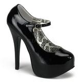 Negro Charol 14,5 cm Burlesque BORDELLO TEEZE-07 Plataforma Zapatos de Salón
