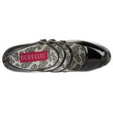 Negro Charol 14,5 cm Burlesque TEEZE-05 Zapatos de tacón altos mujer