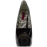 Negro Charol 14,5 cm Burlesque TEEZE-22 Stiletto Zapatos Tacón de Aguja