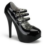Negro Charol 14,5 cm TEEZE-05 Zapatos de tacón altos mujer