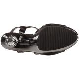 Negro Charol 14 cm ALLURE-609 Zapatos stilettos tacones de aguja