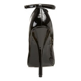 Negro Charol 15,5 cm DOMINA-431 Calzado de Salón Planos Tacón