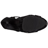 Negro Charol 15 cm DELIGHT-600-49 gladiador botas de mujer tacón altos
