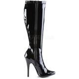Negro Charol 15 cm DOMINA-2000 Botas de mujer para Hombres