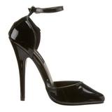 Negro Charol 15 cm DOMINA-402 zapatos de salón tacón bajo
