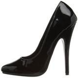 Negro Charol 15 cm DOMINA-420 zapatos puntiagudos con tacón de aguja