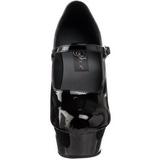 Negro Charol 15 cm PLEASER DELIGHT-687 Plataforma Zapatos de Salón