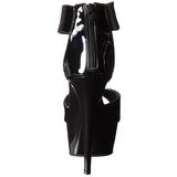 Negro Charol 15 cm Pleaser DELIGHT-670-3 Plataforma Tacones de Aguja
