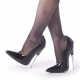 Negro Charol 15 cm SCREAM-01 Fetish Zapato de Salón