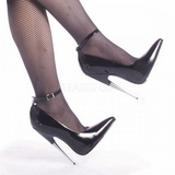 Negro Charol 15 cm SCREAM-12 Fetish Zapatos de Salón