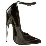 Negro Charol 15 cm SCREAM-12 Fetish Zapatos de Salón