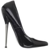 Negro Charol 16 cm DAGGER-01 Fetish Zapatos de Salón