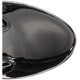 Negro Charol 18 cm ADORE-3050 Botas de mujer hasta la rodilla